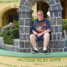Basseterre, St. Kitts - Relaxing after the train trip