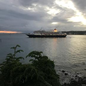 Departing vessel