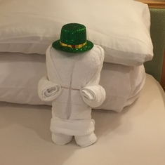 St. Patrick's Day towel art!