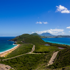 Beautiful view from St.Kitts