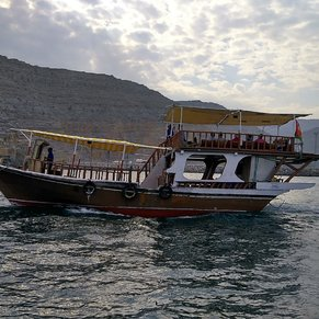 Dhow cruise, Omani fjords.