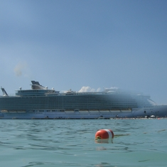 Labadee (Cruiseline Private Island) - The ship from the water