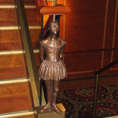 Statue at each stairway