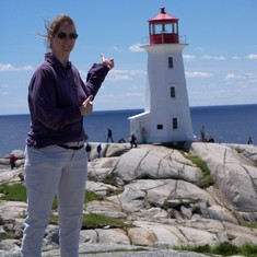 Lighthouse at Peggy's Cove.