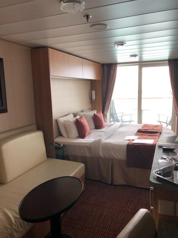Deluxe veranda stateroom cabin category 1a celebrity equinox for Celebrity equinox cabins photos