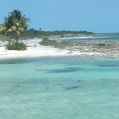 Costa Maya.  Residents say this is private property, that's why it's not crowded