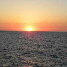 Sun rise at kew west