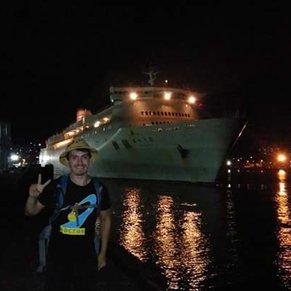 First time traveling by ship, Shin Nihonkai ferry Akashia from Otaru (Sapporo) to Maizuru (Kyoto).