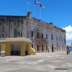 Inside the Spanish fort in San Juan. One of the excursions we embarked upon duri