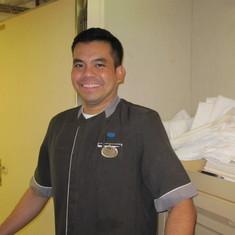 Glenn, wonderful room steward
