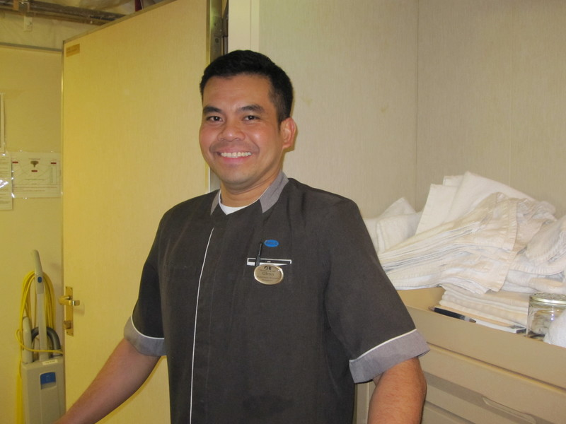 Glenn, wonderful room steward - Island Princess