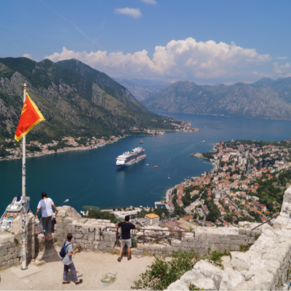 From the top of mountain behind Kotor