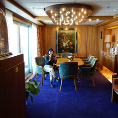 Dining Room in Pinnacle Suite. Cabin 7001.  April 2014.  After Dry Dock.