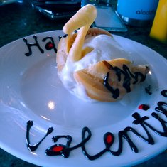 Valentine dessert at Tiffany's