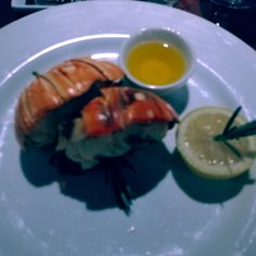 The lobster from the Steakhouse menu.  Special treat for Valentines day for us.