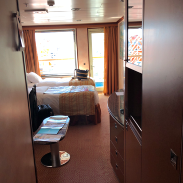 Junior Suite (obstructed view) on Carnival Inspiration
