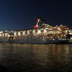 Nassau, Bahamas - all lit up!