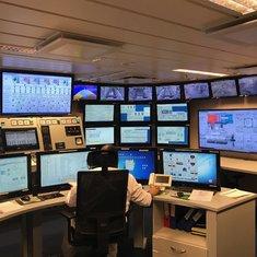 Main technical area watching the ship