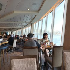 One of our favorite places on the ship in the morning, the Windjammer. Have breakfast and look over the beautiful ocean.