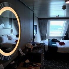 Spacious ocean view room
