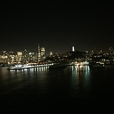 Breathtaking views as we depart SF