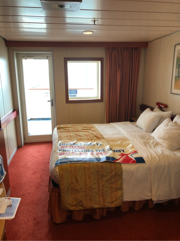 Aft View Extended Balcony Cabin Category 8m Carnival Ecstasy