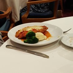 A great, well plated meal at Isaac's on Freedom of the Seas