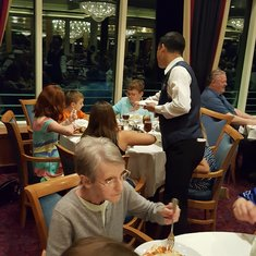 Victor on Freedom of the Seas serving the children promptly and always with a smile.