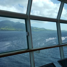 View from deck 11 of Freedom of the Seas