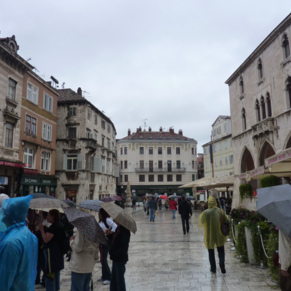 Wet day in Split