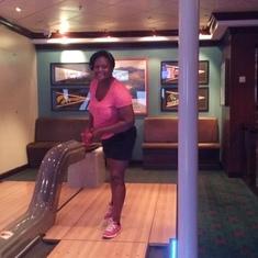 Having fun in bowling
