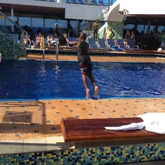 Charlotte Amalie, St. Thomas - Belly flop........lol