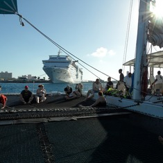 Nassau, Bahamas - On the Catamaran