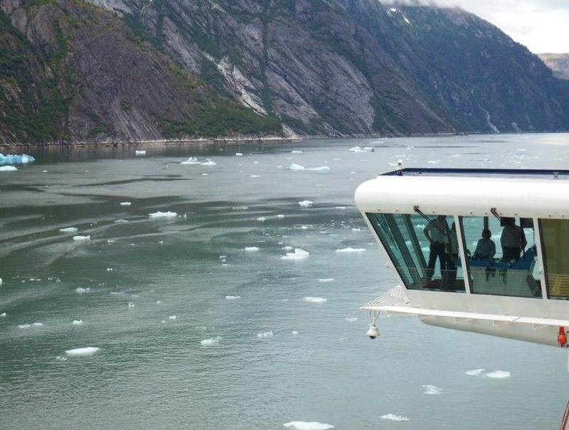 After viewing the glacier, we did two 360's to see it all again.  Perfect. - Celebrity Solstice
