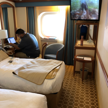 Oceanview Stateroom (Obstructed View) on Caribbean Princess