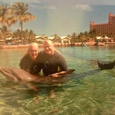 Just playing with our friends, the dolphins 🐬