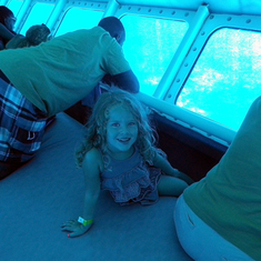 Cozumel, Mexico - grand-daughter on sub