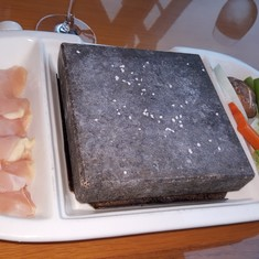 Volcanic rock cooking at Izumi