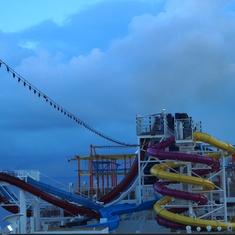 Water slides on the Breakaway