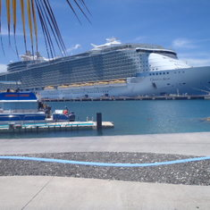 the ship from Labadee, Haiti