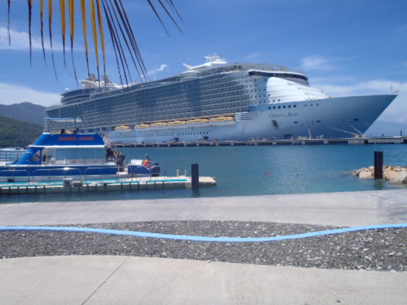 the ship from Labadee, Haiti - Oasis of the Seas