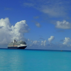 Holland America at Half-Moon Cay, Bahamas