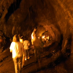Inside a lava tube