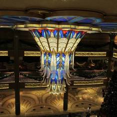 View of the Chandelier from Deck 5