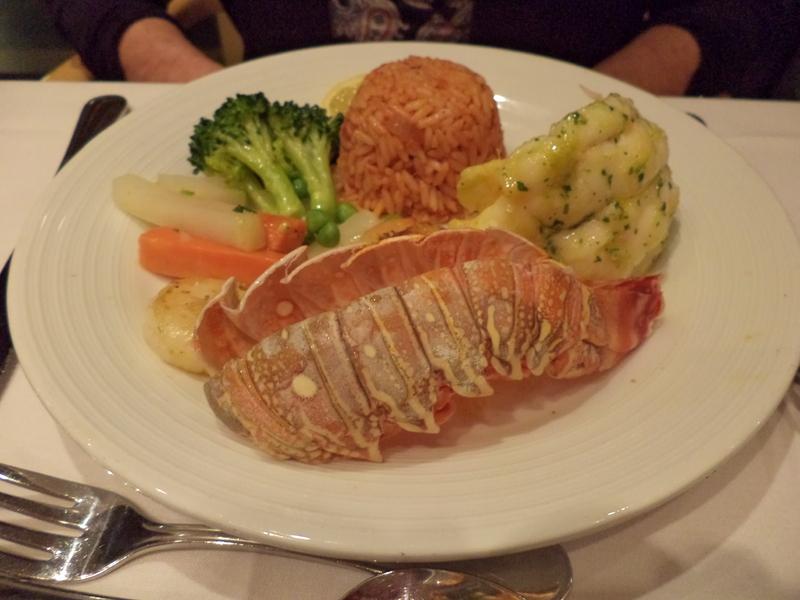 Lobster dinner - Jewel of the Seas