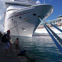 Docked in Nassau
