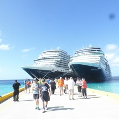 Two HAL ships in port at Grand Turk