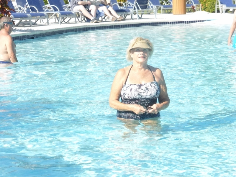 Me in the Grand Turk Pool - Koningsdam