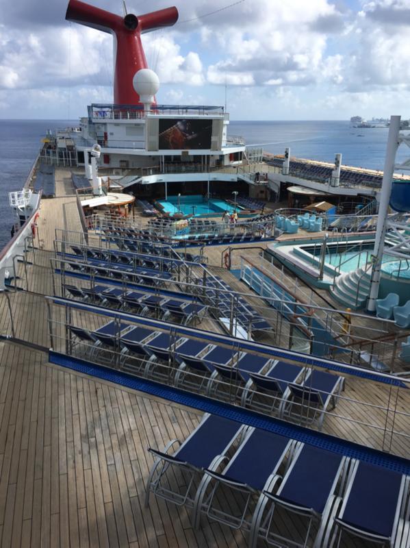 Lido deck area - Carnival Conquest
