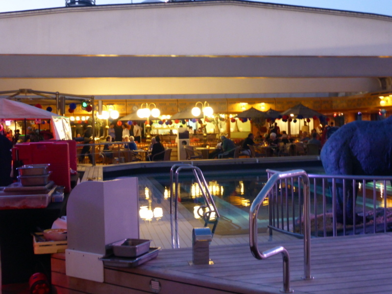 Dome opened on Deck 8 Poolside - Amsterdam